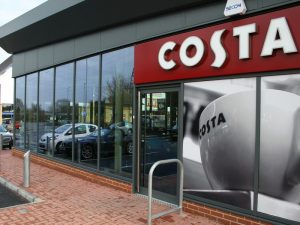 A KSF shop front being used by Costa coffee