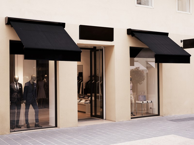 A shopfront using the KTS range