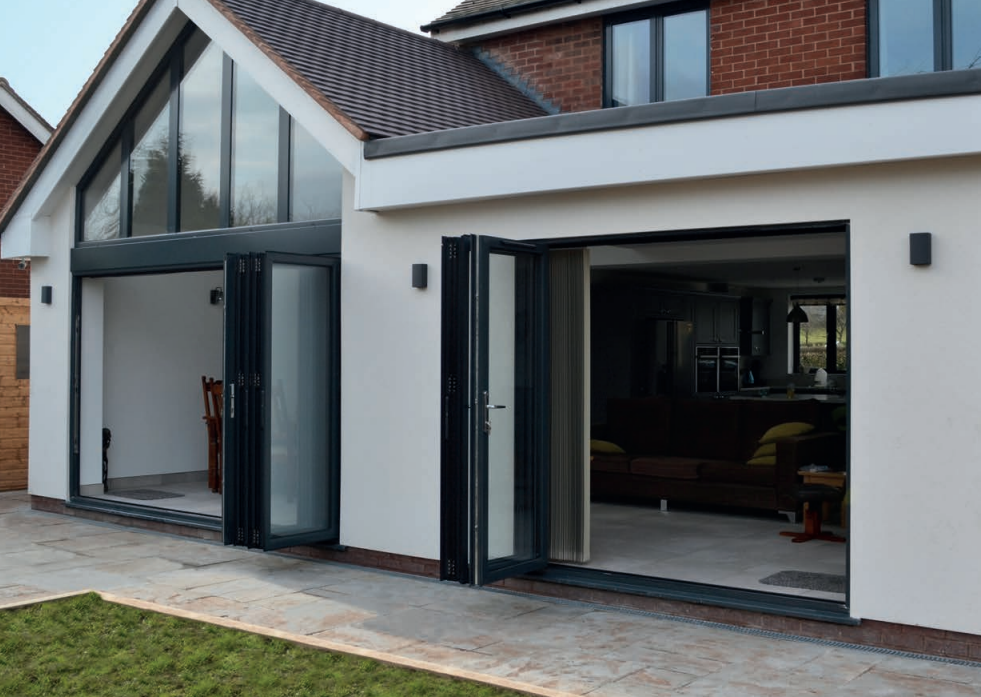 Example of Xlafold doors on home