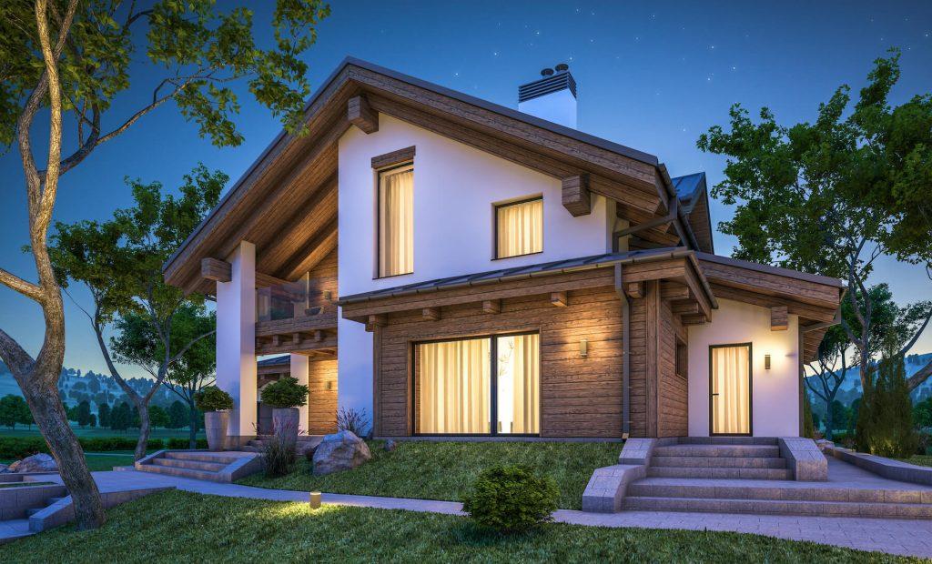 Modern two tone home