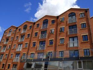 Modern brick apartments